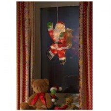 Grote Raamdecoratie Kerstman met 20 led's