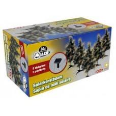 5 solar kerstbomen van 47 cm hoog
